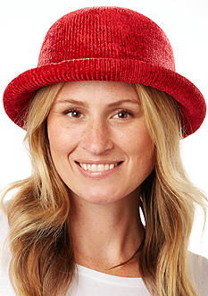 Totes Isotoner Molded Chenille Bowler Hat