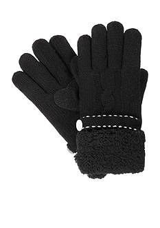 Totes Isotoner Women's Solid Cable Knit Gloves
