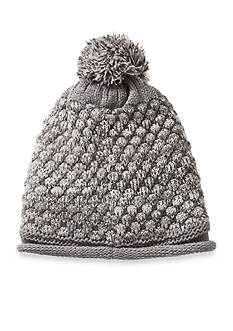 Totes Isotoner Women's Multi Color Popcorn Stitch Rolled Edge Hat