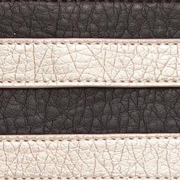 Handle and Tote Bags: Black/Brown Kim Rogers Waxy Stripe Horizon Tote