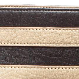 Handle and Tote Bags: Black Kim Rogers Waxy Stripe Horizon Tote