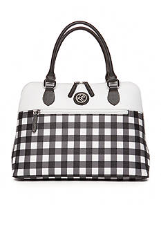 Kim Rogers® Gingham Dome Satchel