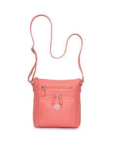 Kim Rogers Front Zip Waxy Pebble Crossbody Bag