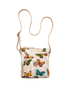 Kim Rogers® Butterfly Canvas Crossbody