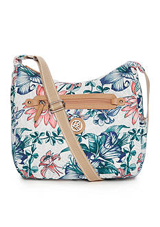 Kim Rogers Tropical Flower Hobo Bag