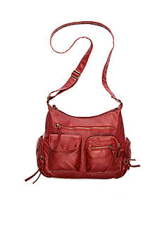 Bueno Washed Pebble Multi-Pocket Crossbody