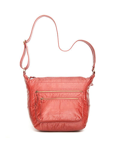 Bueno Pearlized Washed Multi Zip Hobo Crossbody Bag