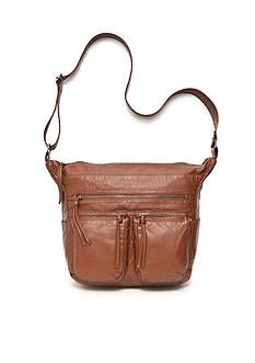 Bueno Lizard Washed Crossbody Hobo