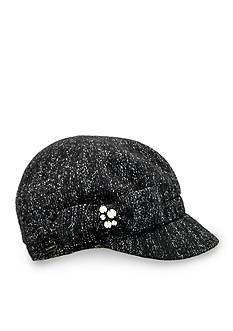 Betmar Lucerne Lurex Cap With Bow and Pearls