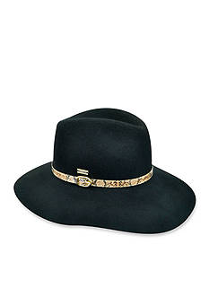 Betmar Tessa Wide Brim Fedora with Snakeskin Band