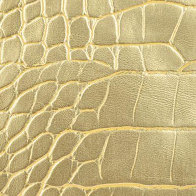 Handbags & Accessories: Wallets & Wristlets Sale: Gold Anne Klein Alligator Alley Medium Wristlet