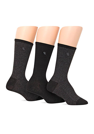 Lauren Ralph Lauren Tweed Trouser Socks - 3 Pack
