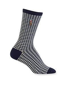 Polo Ralph Lauren Gingham Trouser Socks - Single Pair