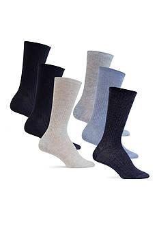 Lauren Ralph Lauren Ribbed Trouser Socks - 6 Pack