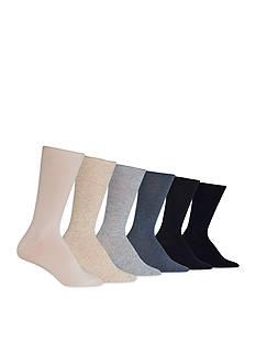 Lauren Ralph Lauren Roll Top Trouser Crew Socks- 6-Pack
