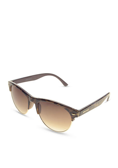 Nine West Plastic Retro Frame Sunglasses