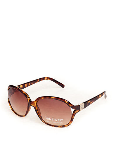 Nine West Oval Sunglasses with Stones