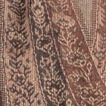 Juniors: Scarves Sale: Brown New Directions Allover Paisley Scarf