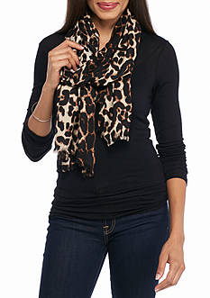 New Directions Leopard Pashmina Scarf