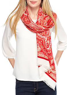 New Directions Holiday Paisley Wrap