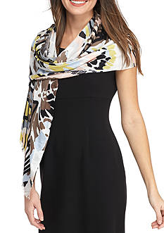 New Directions® Butterfly Print Wrap