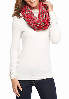 New Directions Red Christmas Loop Scarf