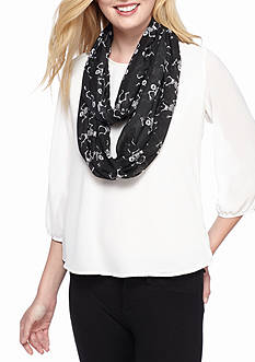 New Directions Skeleton Infinity Scarf
