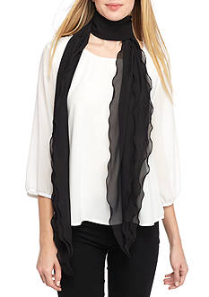 New Directions Solid Flutter Scarf