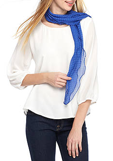 New Directions Dotted Flutter Scarf