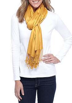 New Directions® Solid Satin Pashmina Wrap