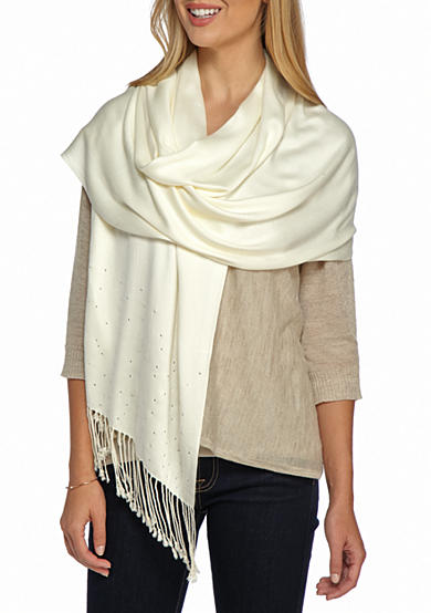 New Directions® Embellished Pashmina Wrap