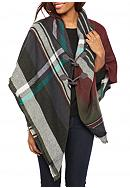 New Directions® Ombre Plaid Jacket Wrap