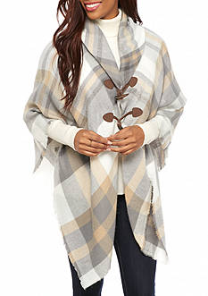 New Directions® Multi Plaid Jacket Wrap