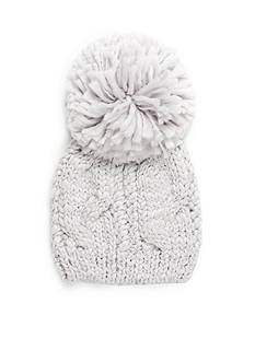 New Directions Pom Pom Cable Beanie