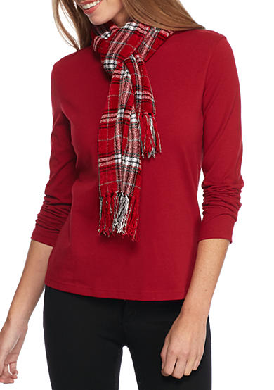 New Directions® Windowpane Plaid Scarf