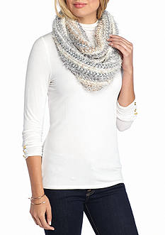 New Directions Feather Tinsle Infinity Scarf