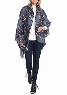New Directions® College Plaid Runway Blanket Wrap