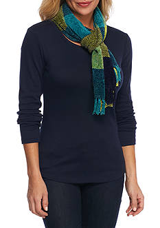 New Directions® Colorblock Plaid Scarf