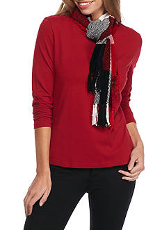 New Directions Colorblock Plaid Scarf