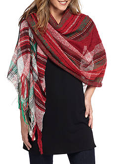 New Directions® Plaid Runway Wrap