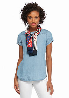 Kim Rogers® Patchwork Stars and Stripes Scarf