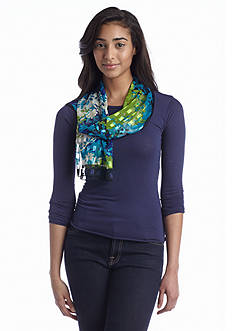 Kim Rogers® Spring Hill Floral Glitterbox Oblong Scarf