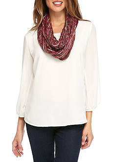 Kim Rogers® Textured Lurex Infinity Scarf
