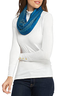 Kim Rogers Textured Lurex® Infinity Scarf