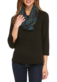Kim Rogers Multi-Colored Confetti Knit Infinity Scarf