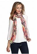 Kim Rogers® Floral Ruffle Scarf