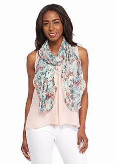 Kim Rogers® Ruffle Floral Scarf
