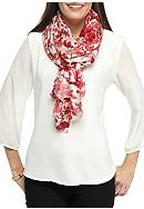 Kim Rogers® Floral Branches Silk-Like Neckwrap