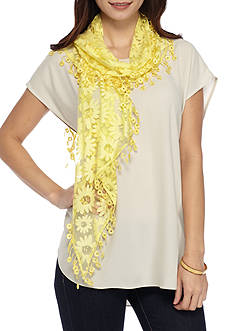 Kim Rogers Daisy Lace Scarf