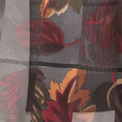 Clothing Accessories: Oblong: Gray Kim Rogers Fallen Autumn Leaves Scarf